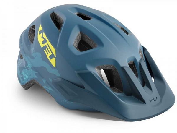 MET Eldar Cykelhjelm, Petrol Blue Camo