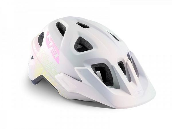 MET Eldar Cykelhjelm, White Texture