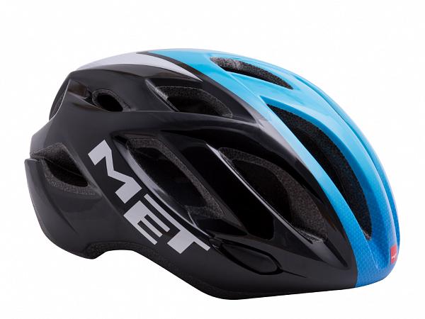 MET Idolo Cykelhjelm, Black/Blue/White