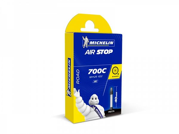 Michelin Airstop  Cykelslange 700x18/25C, 40mm Racerventil