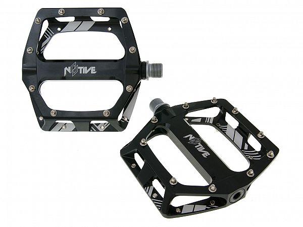 N8TIVE DH black Flat Pedals, 105x110mm