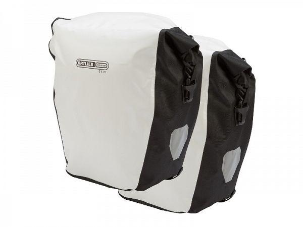 Ortlieb Back-Roller City QL1 hvid Sidetaskesæt, 40L