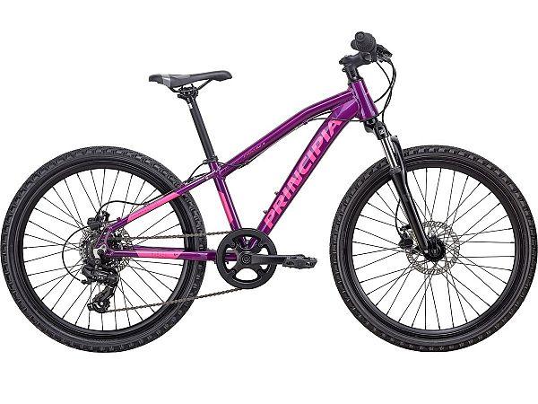 """Principia Evoke A2.4 24"""" Purple - Børnecykel - 2020"""