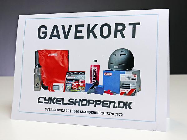 Print-selv Cykelshoppen.dk Gavekort, 2000 DKK
