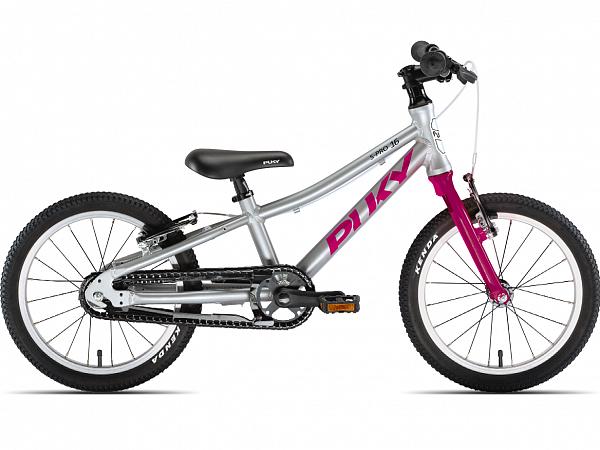 """Puky S-Pro 16-1 Alu 16"""" Berry - Børnecykel - 2021"""