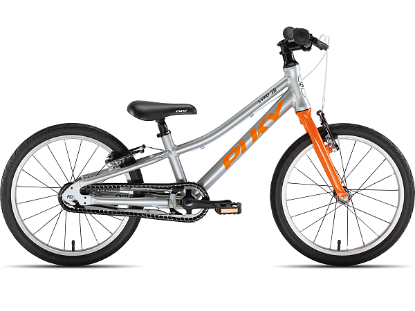 """Puky S-Pro 18-1 Alu 18"""" Orange - Børnecykel - 2021"""