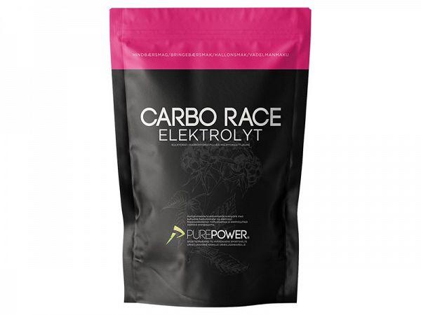 PurePower Carbo Race Hindbær Elektrolyt, 1 kg