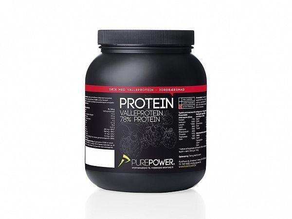 PurePower Jordbær Proteindrink, 1 kg