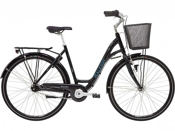 Raleigh Shopping Alu Black - Damecykel - 2020
