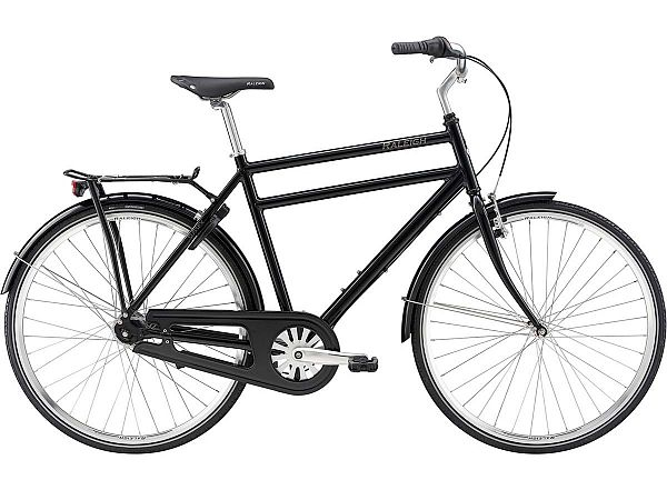 Raleigh Sussex Black - Herrecykel - 2019