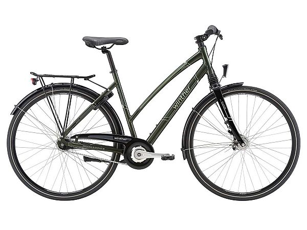 Raleigh Sussex grøn - Damecykel - 2018, 52cm (Udstillingsmodel)