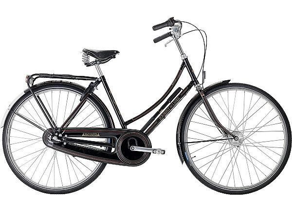 Raleigh Tourist de Luxe 7 sort - Damecykel - 2020