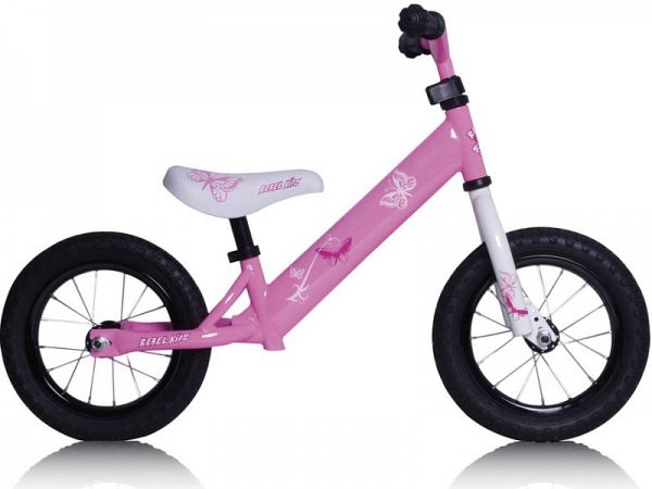 RebelKidz Air Steel - Løbecykel - 2019, Pink Butterfly