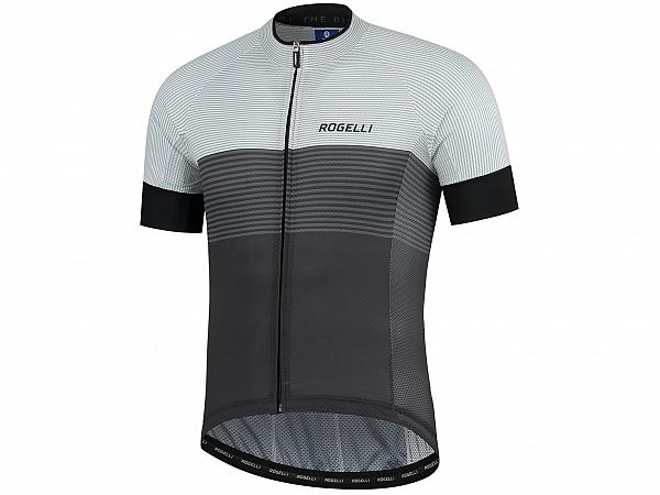 Rogelli Boost Cykeltrøje, Black/White