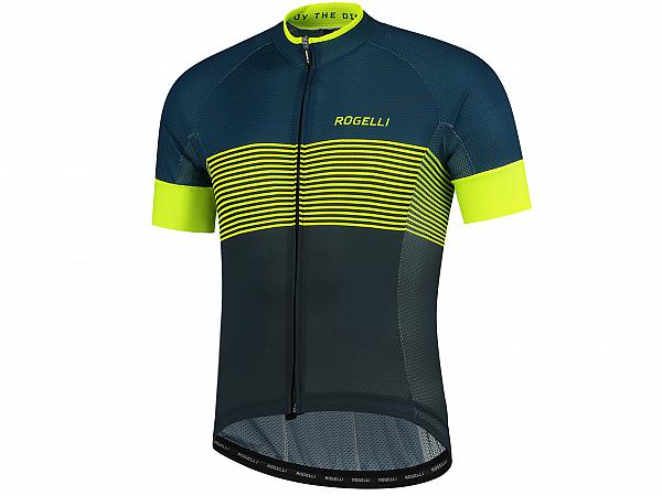 Rogelli Boost Cykeltrøje, Blue/Fluor