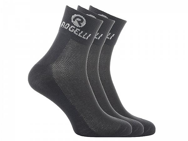 Rogelli Coolmax 3-Pack Strømper, Black