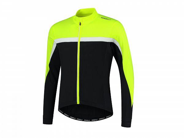 Rogelli Course LS Cykeltrøje, Fluor/White/Black