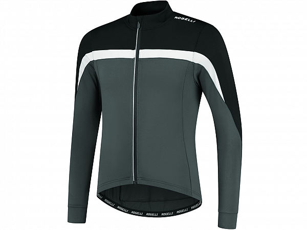 Rogelli Course LS Cykeltrøje, Grey/White/Black