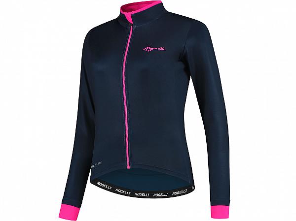 Rogelli Essential LS Lady Cykeltrøje, Blue/Pink