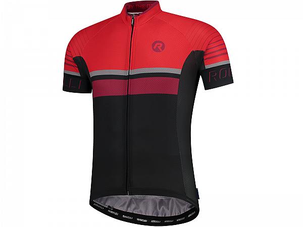 Rogelli Hero Cykeltrøje, Black/Bordeaux/Red