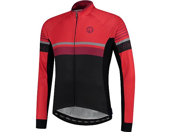 Rogelli Hero LS Cykeltrøje, Black/Bordeaux/Red