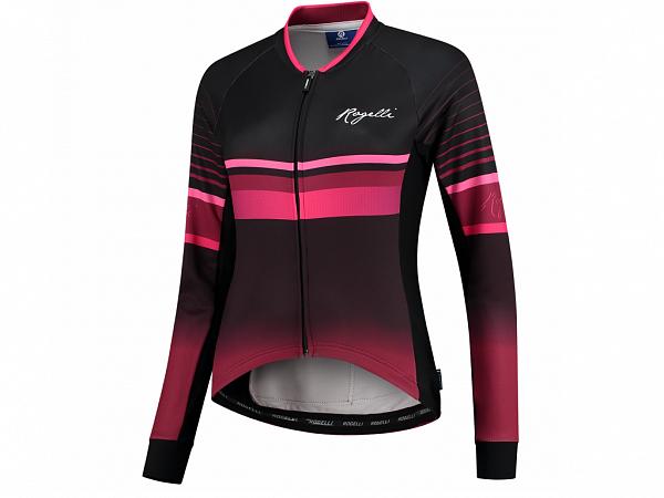 Rogelli Impress LS Lady Cykeltrøje, Burgundy/Pink