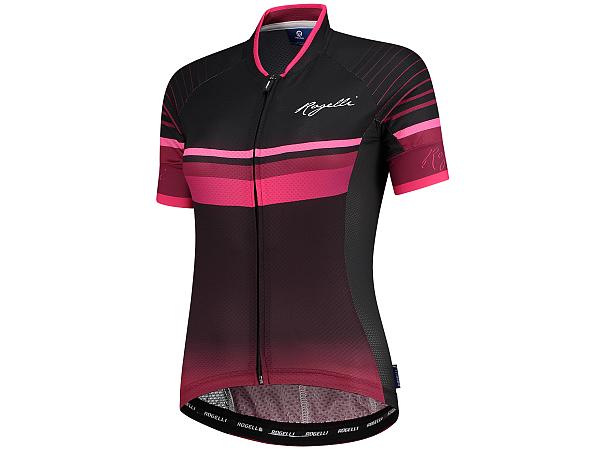 Rogelli Impress SS Lady Cykeltrøje, Burgundy/Pink