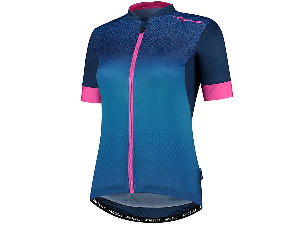 Rogelli Lux Lady Cykeltrøje, Blue/Pink