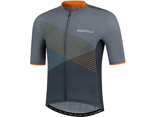 Rogelli Spike Cykeltrøje, Grey/Orange