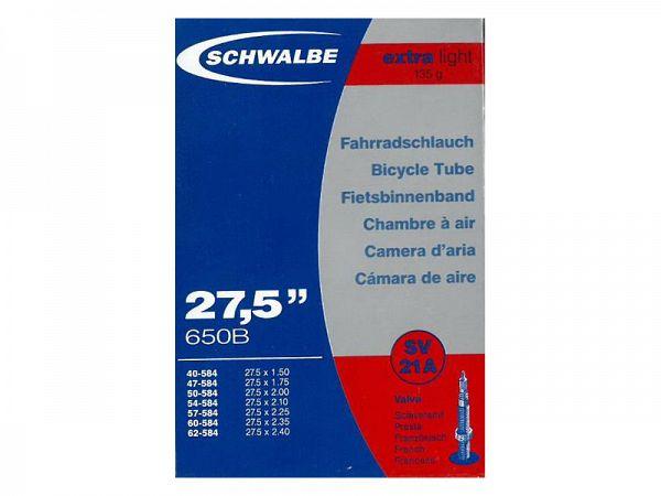 """Schwalbe X-light Cykelslange 27.5"""" x 1.50-2.40, Racerventil (SV21A)"""