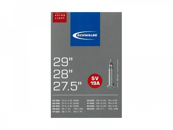 Schwalbe X-light Cykelslange 700x38-62C, 27/29, Racerventil (SV19A)