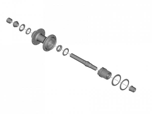Shimano MT501 Akselsæt m. Micro Spline Body
