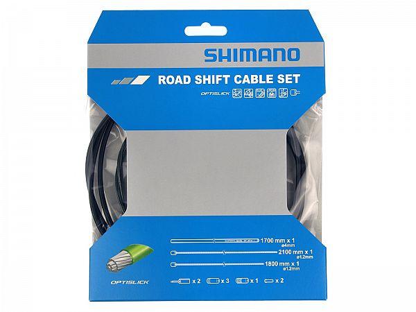 Shimano Racer Teflon Optislick Gearkabelsæt, Black