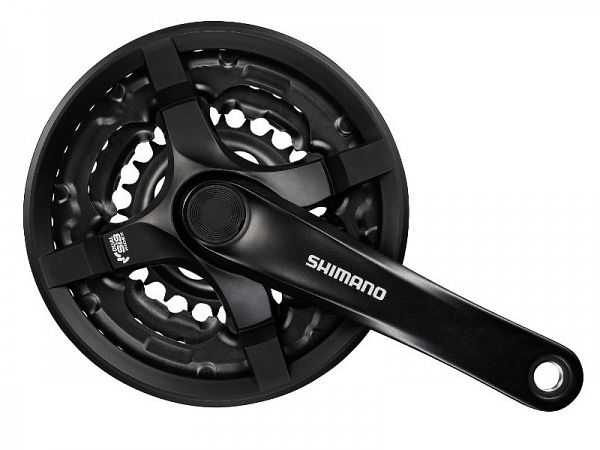 Shimano Tourney TY501 6/7/8-Speed, Kranksæt, 48/38/28T