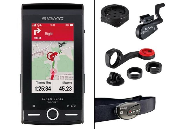 Sigma Rox 12.0 GPS Bundle Cykelcomputer, Grey