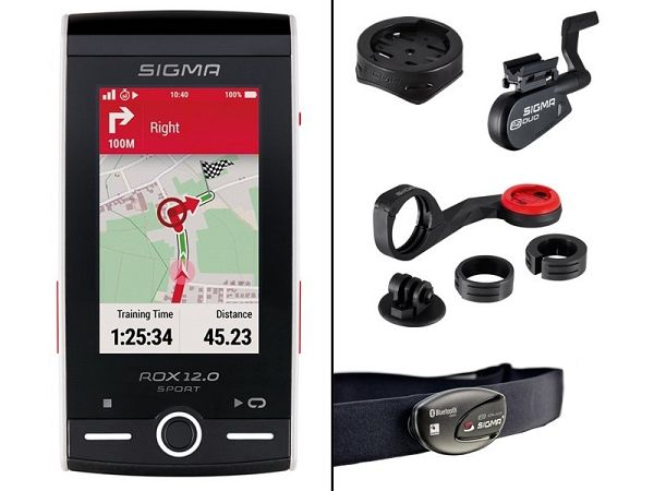 Sigma Rox 12.0 GPS Bundle Cykelcomputer, White