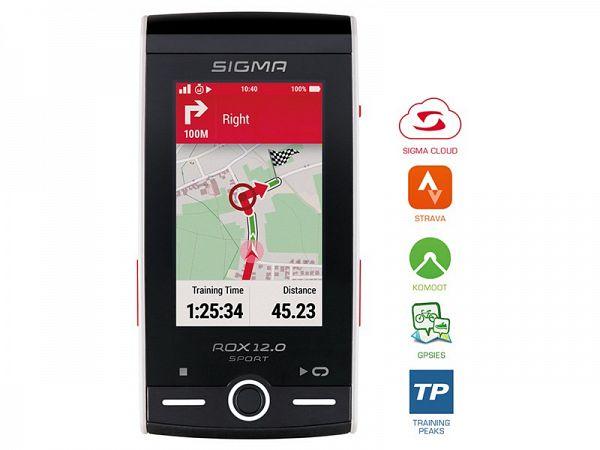 Sigma Rox 12.0 GPS Cykelcomputer, White