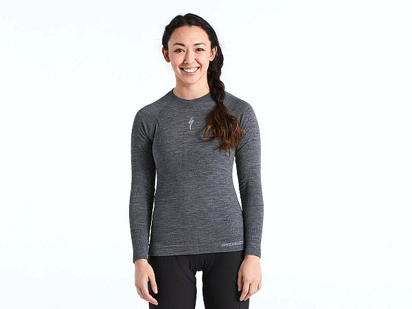 Specialized Merino Seamless LS Dame Base Layer, Grey