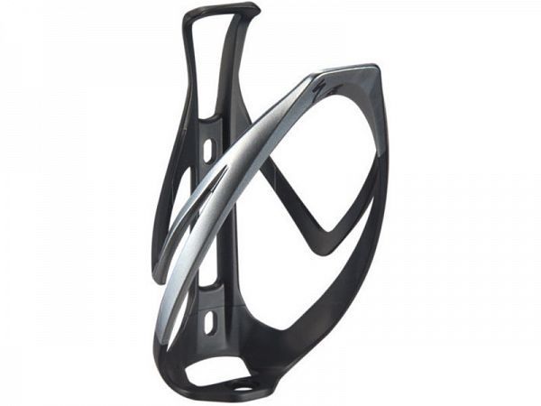 Specialized Rib Cage II Flaskeholder, Matte Black/Liquid Silver