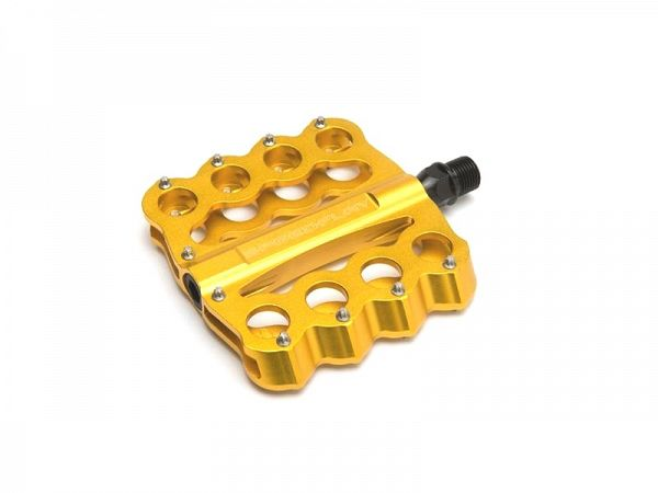Speedplay Brass Knuckles Crome-Moly Pedaler, Gold