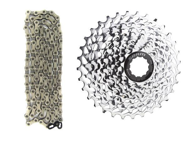Sram PG-1030 Kassette, 11-36T / PC-1031 10-Speed Kæde