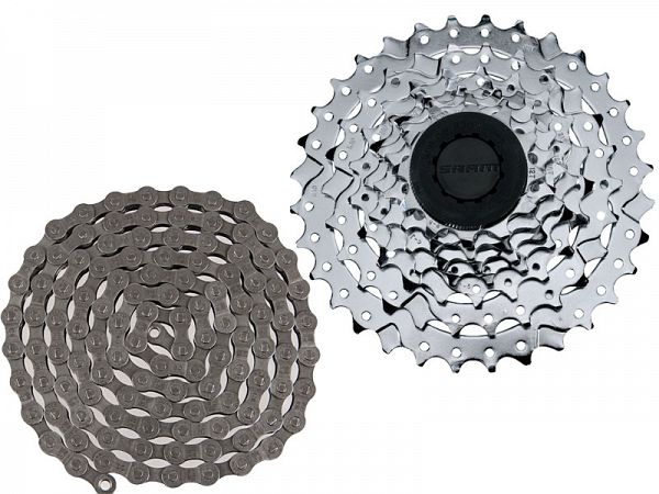 Sram PG-730 Kassette, 12-32T / PC-830 7-Speed Kæde