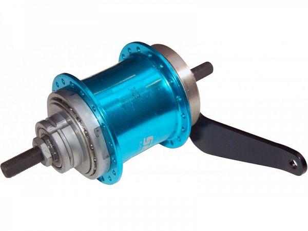 Sturmey Archer duomatic, S2C, 36H, blå