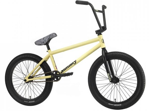 "Sunday Streetsweeper 20.75"" - Freestyle BMX - Matt Notepad Yellow"