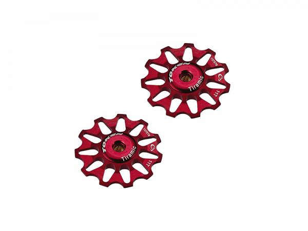 Token Alu MTB/Race røde Pulleyhjul, 11T