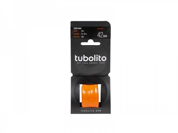 Tubolito Tube-Road 700 x 18-28C Cykelslange, 42mm Racerventil