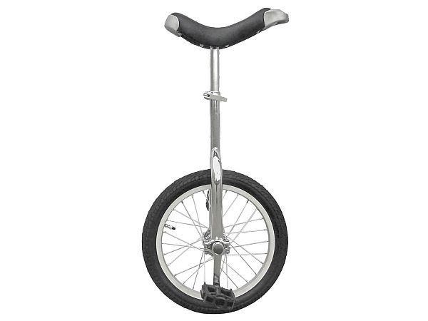 """Unicykel 16"""" Silver - Ethjulet Cykel - 2020"""