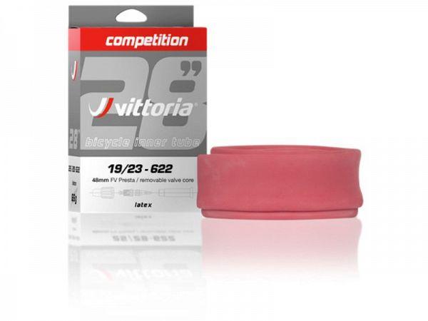 Vittoria Competition Latex Cykelslange 700x19/23C, 48mm Racerventil