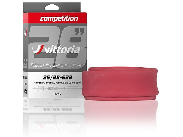 Vittoria Competition Latex Cykelslange 700x25/28C, 48mm Racerventil