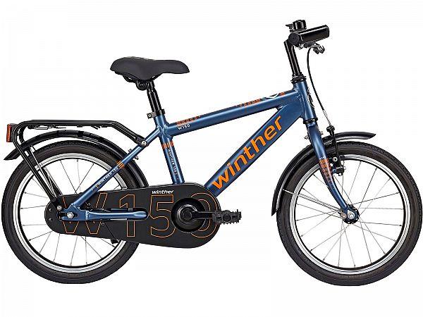 """Winther 150 Alu 18"""" matblå - Børnecykel - 2019"""